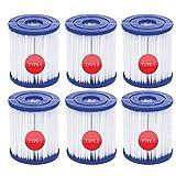 WRYIP Cartuchos de filtro de piscina para Bestway tipo I, accesorios de filtro de limpieza de piscinas, sustituye a cartuchos de filtro para cartucho de filtro, jacuzzi o spa (6 unidades)