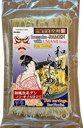麦挽屋今助 歌舞伎らーめん 2食 旨味だしつゆ味×12入り 根岸物産 和風ダシが効いたUMAMIラーメン