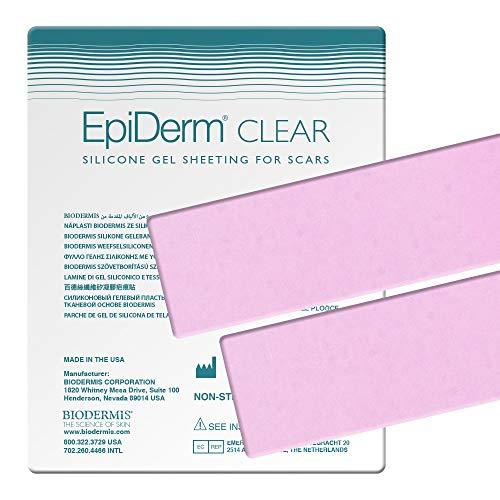 BIODERMIS Epiderm Narbenpflaster aus transparentem Silikon 3,6x30 cm, Selbstklebend am gesamten Körper, Zur Narbenpflege nach der OP und um alte Narben zu entfernen