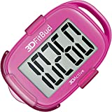 3DFitBud Simple Step Counter Walking 3D Pedometer with Clip and Lanyard, A420S (Pink)