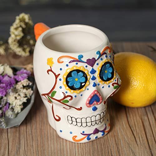 BAYUE Koffie Melk Beker, Groothandel Creatieve Geschenken Grappige Skeleton 3d Schedel Mok Leuke Keramische Thee Water Thuis Decoratie Wit