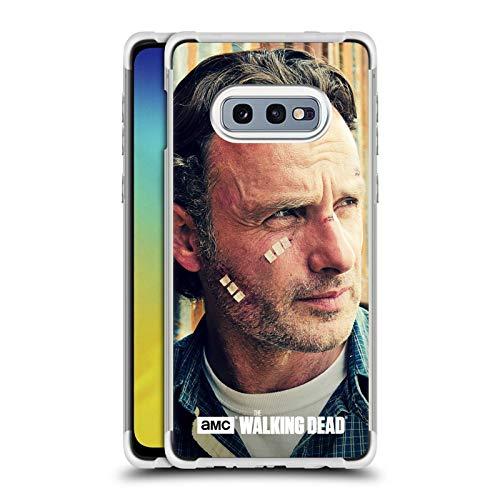 Officiële AMC The Walking Dead Snijwonden En Verbanden Rick Grimes Zilver Shockproof Fender Case Compatibel voor Samsung Galaxy S10e