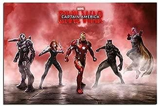 Captain America Civil War Team Iron Man Poster 60 x 90 cm