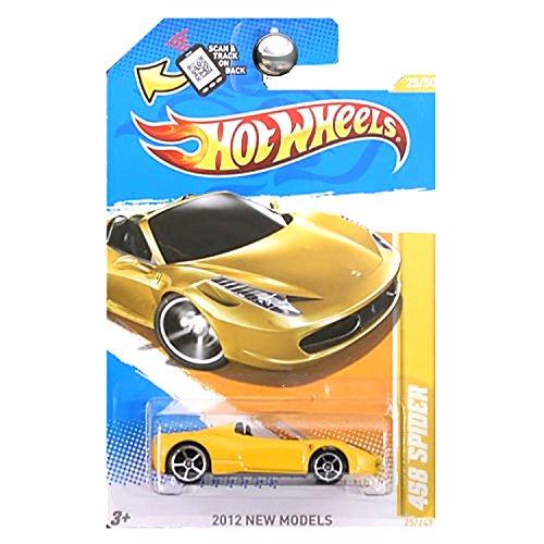 Hot Wheels 2012 New Models Ferrari 458 Spider 25 of 50 Yellow
