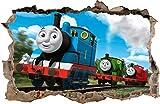 Wall Graphics Adesivi Murali Buco nel Muro Il Trenino Thomas Decorazioni murali Thomas e Amici 75 (XL - 100 x 65 cm)