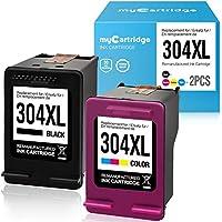 MyCartridge Compatible HP 304 XL 304XL Cartuchos de Tinta para HP DeskJet 2620 2630 3720 3730 3732 3735 HP Envy 5020 5030 5032 (1 x Negro 1 x Color)
