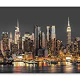 artgeist Wall Mural New York City 135'x101' XXL Peel and Stick Self-Adhesive Wallpaper Removable Large Sticker Foil Wall Decor Print Picture Image Design d-B-0060-a-c