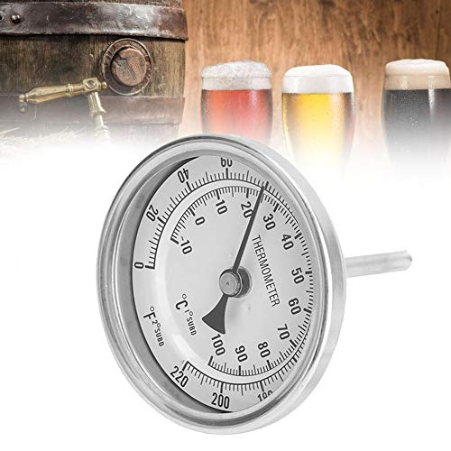 "Cafopgrill Bimetall-Thermometer Bierthermometer Kit Weldless Bi-Metall Homebrew Kettle 1/2""MNPT 0~220F für Homebrew Bier- und Weinthermometer"