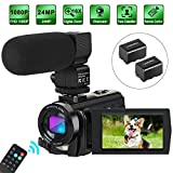 Best Blogging Cameras - Camcorder Video Camera Digital YouTube Vlogging Camera HD Review
