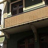 Liveinu Privacy Fence Screen Windscreen for Balcony Porch Verandah Deck Terrace Patio Backyard Railing Balcony Privacy Screen Cover for UV Protection 2.6'x5.9' ft Yellow 3