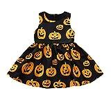 Vestiti del Bambino della Principessa della Zucca del Fumetto dei Vestiti della Zucca del Fumetto dei Bambini,YanHoo (12M-5anni) Gonna di Halloween Senza Maniche a Forma per Bambini