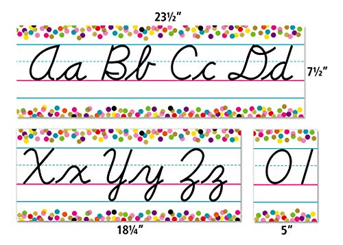 Confetti Cursive Writing Bulletin Board Photo #2