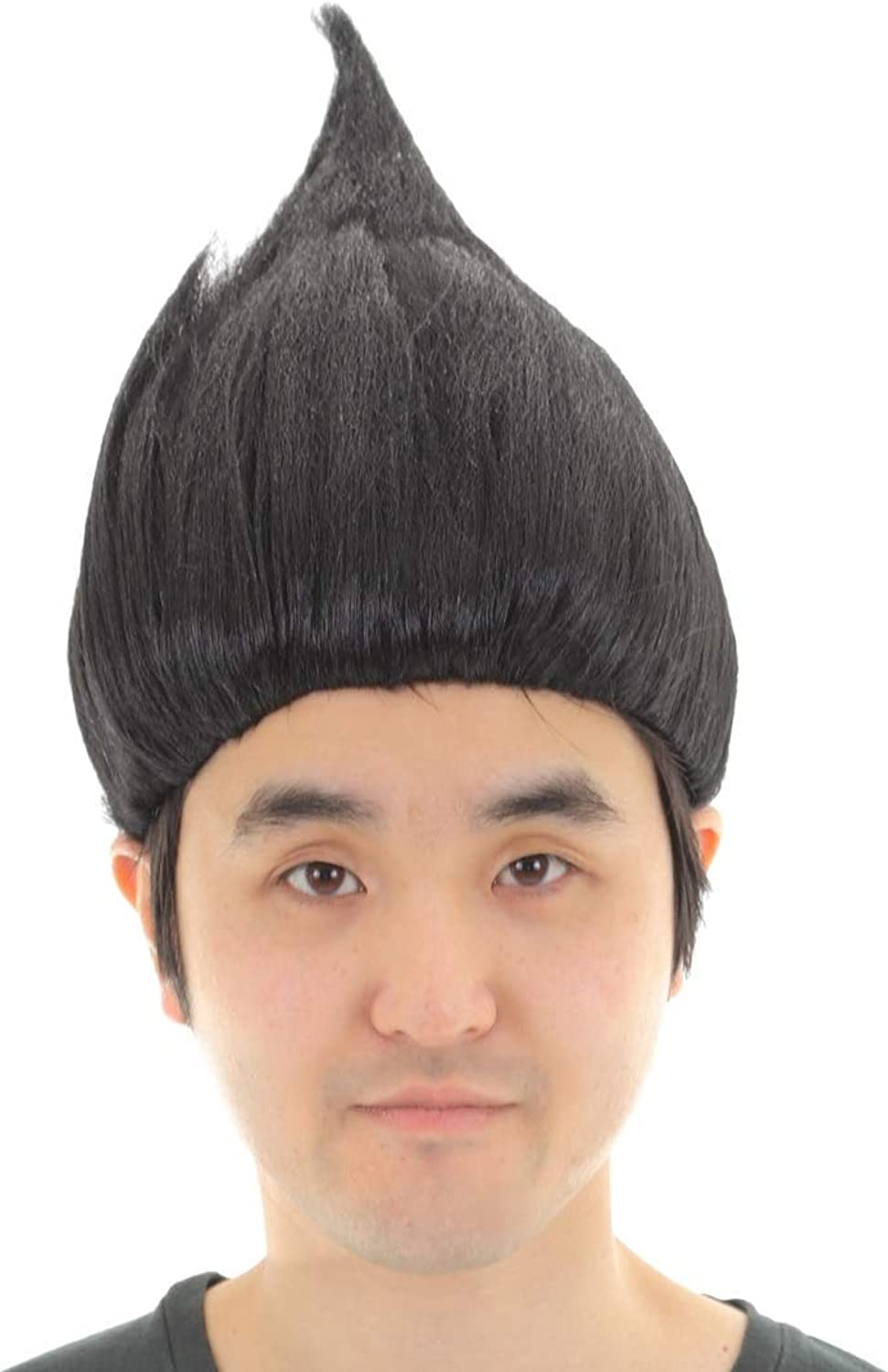 (Yotei) Youtei pointed onion head fairy flame wig cosplay (one size black)