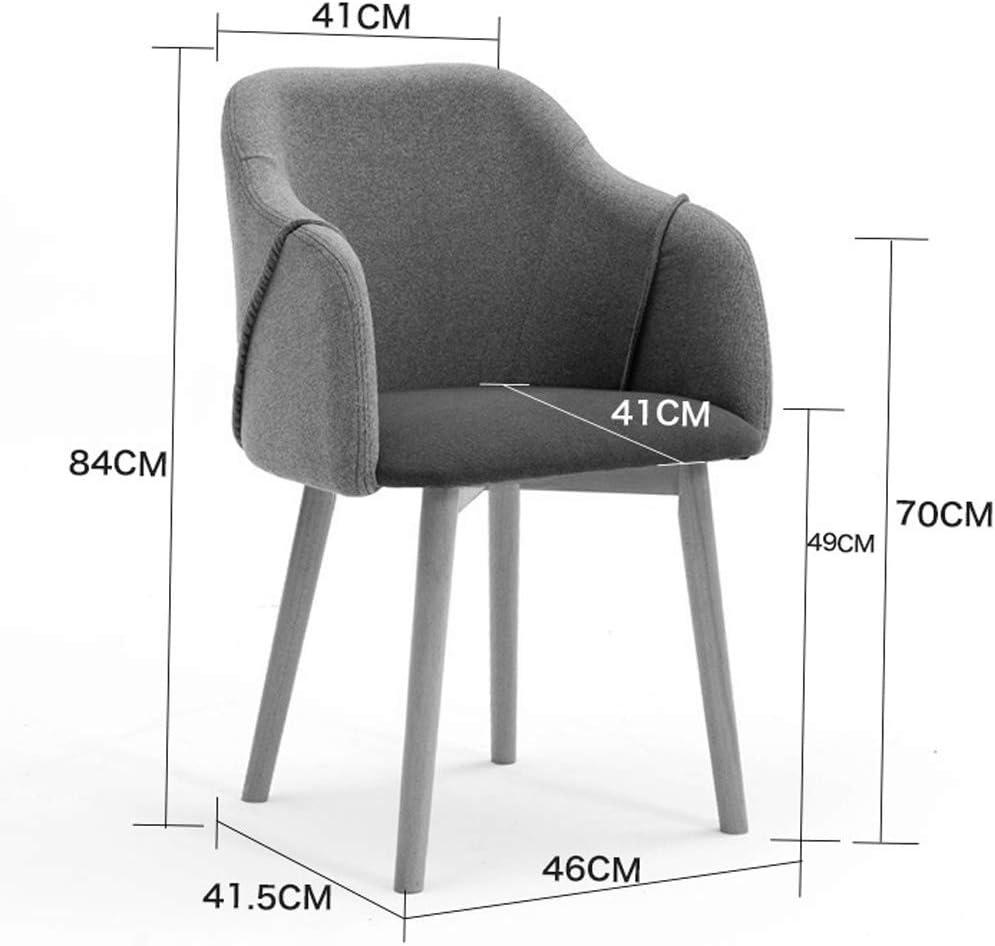 XXT Chaise de salle à manger, simple chaise de bureau, dossier créatif, chaise de loisirs, chaise de salle à manger pour adulte, durable (couleur : rouge-A) Gris Clair-b