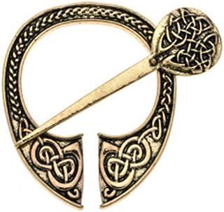 Mujeres Hombres Forjado a mano Medieval Norse Runic Viking Jewelry Hebillas de cinturón Vintage Viking Cloak Broche Cloak ...