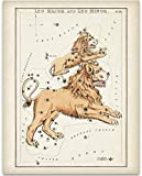 Leo Antique Zodiac Constellation Art Print - 11x14 Unframed Art Print - Great Decor and Gift for Birthday and Astrology Enthusiasts Under $15