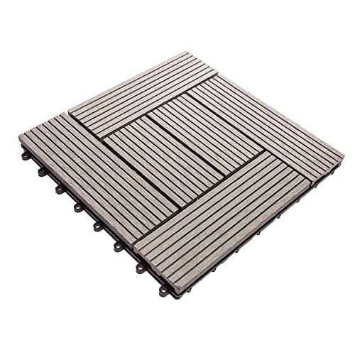 IncStores DIY Helios Deck Tiles (6 Slat Grey)