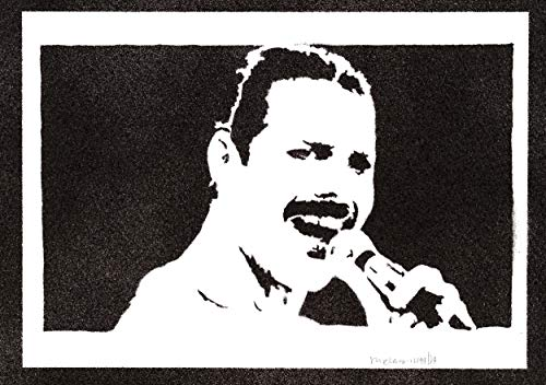Poster Freddie Mercury Queen Handmade Graffiti Street Art - Artwork