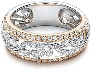 Top Qualität Gold Kompakt Klassische Hochzeit Farbe Österreichischer Ring Rose