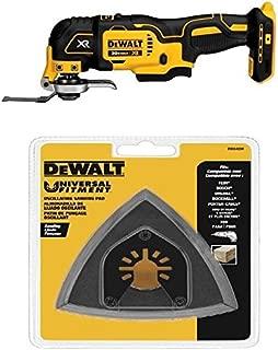 DEWALT DCS355B 20V XR Oscillating Multi-Tool w/ DWA4200 Triangular Head Oscillating Sanding Pad