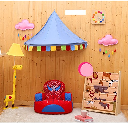 Nouveau Pericross Lit baldaquin Accrocher la tente de jeu pour les Filles et Garcons Jouer tente Canopy 100 % coton baldaquin (couleur2)