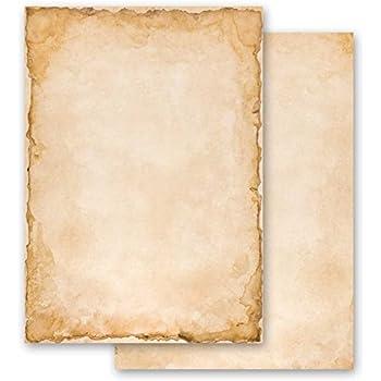 Carta da lettera decorati OLD STYLE 100 fogli DIN A4