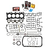 Evergreen Engine Rering Kit FSBRR4012 Compatible With 90-96 Honda Accord SOHC F22A1 F22A4 F22A6 Full Gasket Set, 0.50mm / 0.020' Oversize Main Rod Bearings, 0.50mm / 0.020' Oversize Piston Rings