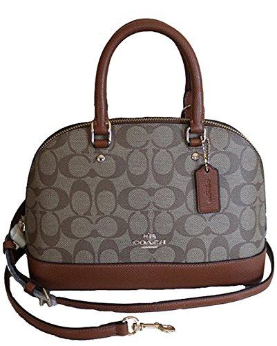 Coach Damen-Handtasche mit Schultern, schräg, Mini Sierra, Braun (Im/Khaki/Saddle), Small