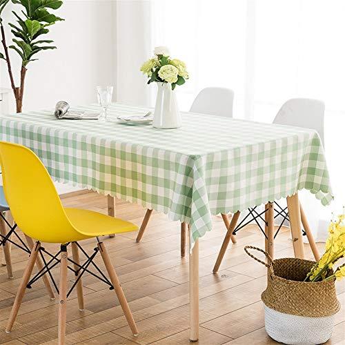 NOBRAND Geometrische eenvoudige klassieke Gingham tafelkleed Spandex stof tafelkleed Stain stofdichte doek decoratieve tafelkleed (kleur: Groen, Maat : 1.6 * 2.4m)