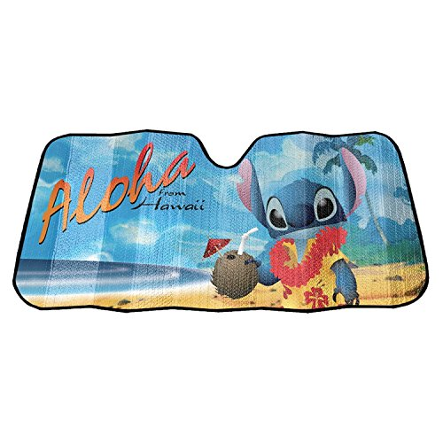 Plasticolor 003728R01 Disney's Lilo and Stitch Accordion Sun Shade Universal Bubble