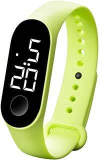 LMMVP Pulsera Reloj LED Electronic Sports Luminous Sensor Relojes Relojes de Moda para Hombres y Mujeres
