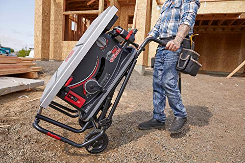 SAWSTOP 10-Inch Jobsite Saw Pro with Mobile Cart Assembly, 1.5-HP, 12A, 120V, 60Hz (JSS-120A60)