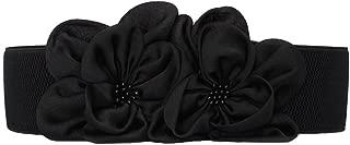 Women's Chiffon Flower Decorative Belt Elastic Wild Belt Buckle Belt