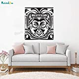 woyaofal Mysterious Wall Tribal Mask ng Decals Vinyl Home Decor for Living Room Bedroom...