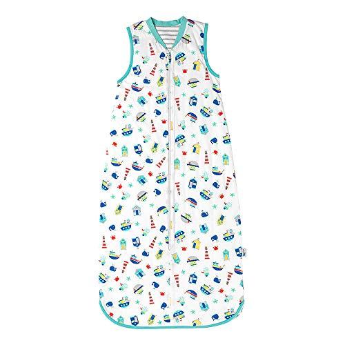 Schlummersack Babyschlafsack für Jungen Frühjahr/Sommer 1.0 Tog - Boote -110cm/12-36 Monate