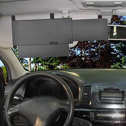 Mimei Extensor de parasol para visera de coche Extensor de visera para sol antideslumbrante Sombrilla para ventana y bloqueador de rayos UV gorgeous