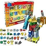 Transformador De Juguete Con Números, Robots Con Números Que Transforman El Juguete De Autobots, Bloques De Construcción Que Se Transforman En Vehículos,Rompecabezas Fidget Regalo Educativo Para Niños