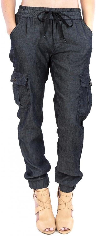 Exocet jeans Black Jogger with Cargo Pockets Harem Pant