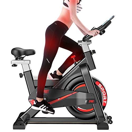 Hometrainer voor indoor fietsen, spinningfiets, hartslagsensoren, verstelbare stoel