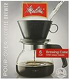 Melitta 36 oz. Pour Over Coffee Brewer, Black