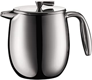 Bodum Columbia - Insulated French Press Coffee Maker - Dishwasher Safe - Stainless Steel - Stainless