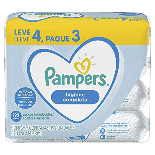 Lenços Umedecidos Pampers Higiene Completa 192 Unidades, Pampers