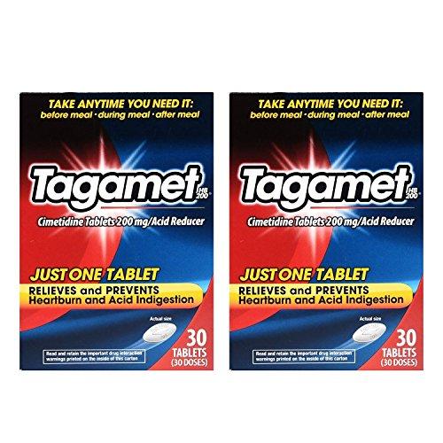 Tagamet Acid Reducer 200mg Cimetidine Tablets 30 Count Each 2 Pack