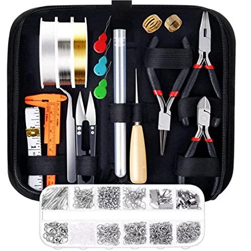 Bricolaje de cuentas material Suministros joyería que hace el kit con los hallazgos cables de joyas para la reparación de joyería y acc Artes Manualidades