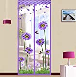 FACAI Klett-Anti-Moskito-Vorhang magnetische weichen Bildschirm Tür Trennwand Vorhang magnetische Moskitonetz freien Schlag,B,100 * 210cm