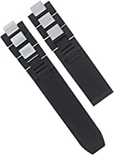 20mm Rubber Strap Band Compatible with Cartier Must 21 Chronoscaph 2824, 2424 Autoscaph