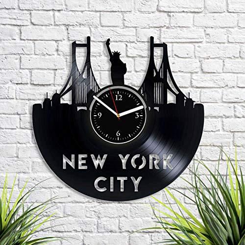 Reloj De Vinilo De Pared De Vinilo De Nueva York, Regalo De Navidad, Regalo Para Mujer, Arte De Nyc