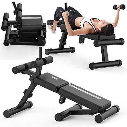 IJNUHB Klappbare Hantelbank Multifunktion Training Fitness Bank Fitnessbank Sit-Ups Multifunktionaler Fitnessstuhl Verdickter Schlauch Starke Tragfähigkeit