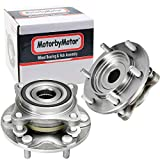 MotorbyMotor (4WD) Front Wheel Hub & Bearing Assembly Replacement for Lexus GX460 GX470 Toyota 4Runner FJ Cruiser Tacoma Hub Bearing w/6 Lugs, 4x4-515040, 950-001(Pair)