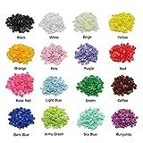 set de 375 botones de cierre de presi/ón de pl/ástico T5 en 25 colores para DIY Alicates de presi/ón FISTE